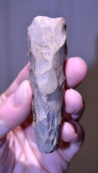A very nice Danish Neolithic flint Adze, old collection piece. SOLD